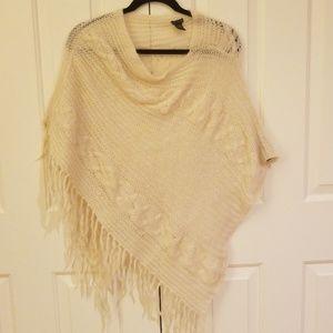 Cream colored American Eagle shawl.